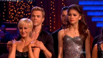 Kellie Pickler, Derek Hough, Zendaya and Val Chmerkovskiy appear on week 10 of season 16 of Dancing With The Stars, which aired on May 20, 2013. - Provided courtesy of ABC