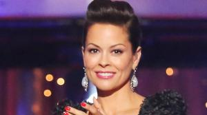 Co-host Brooke Burke-Charvet appears on ABCs Dancing With The Stars on May 20, 2013, a day before the season 16 finale. - Provided courtesy of ABC Photo / Adam Taylor