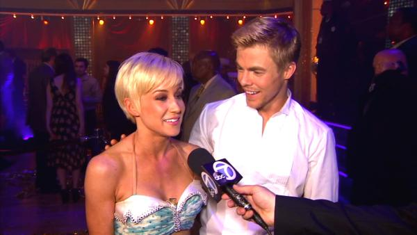 Dancing With The Stars contestants Kellie Pickler and Derek Hough talk to OTRC.com after season 16s finale episode on May 21, 2013. - Provided courtesy of OTRC