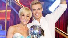 Kellie Pickler, an American Idol alum, and partner Derek Hough react after they are announced as the winners of Dancing With The Stars on the ABC shows season 16 finale on May 21, 2013. - Provided courtesy of ABC Photo/ Kelsey McNeal