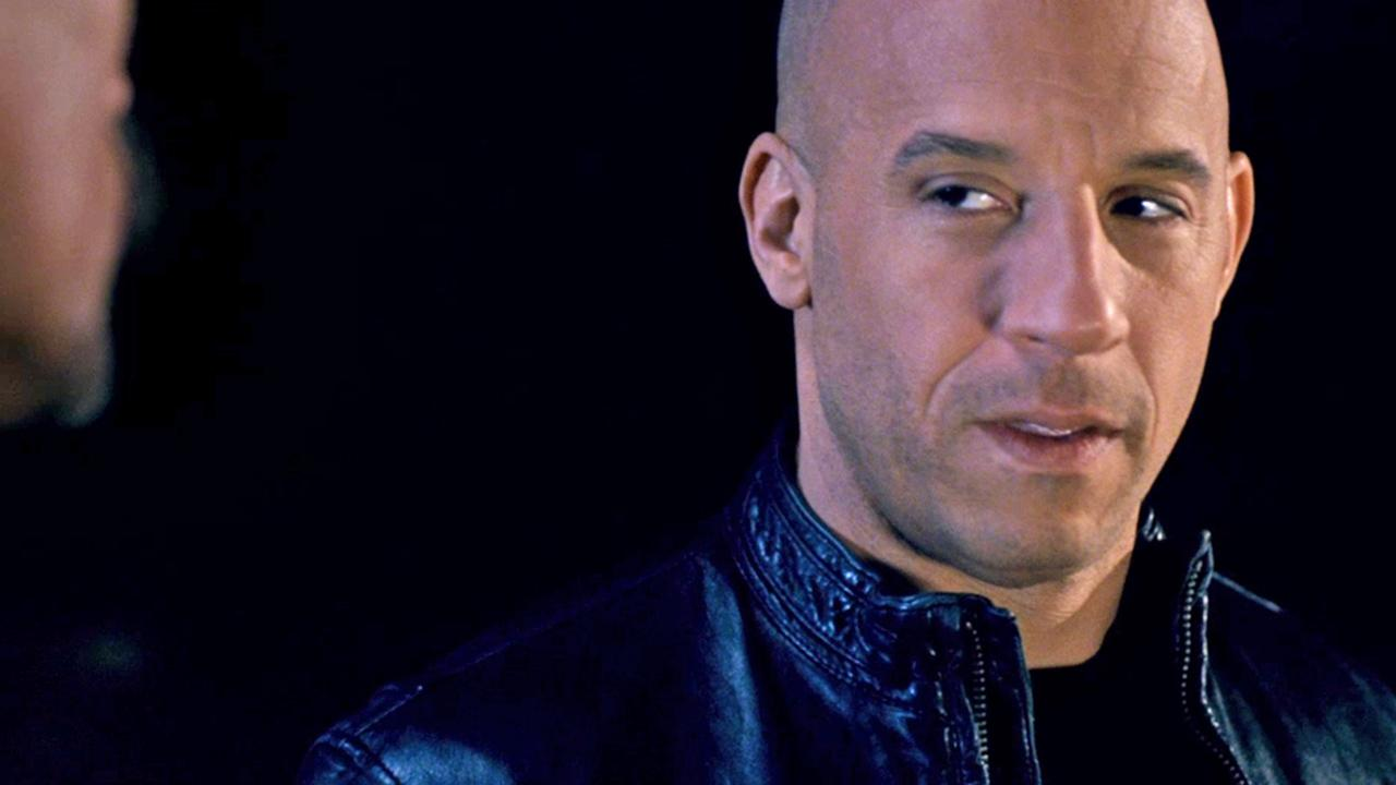 Dom (Vin Diesel) appears in a scene from the 2013 movie Fast and Furious 6.