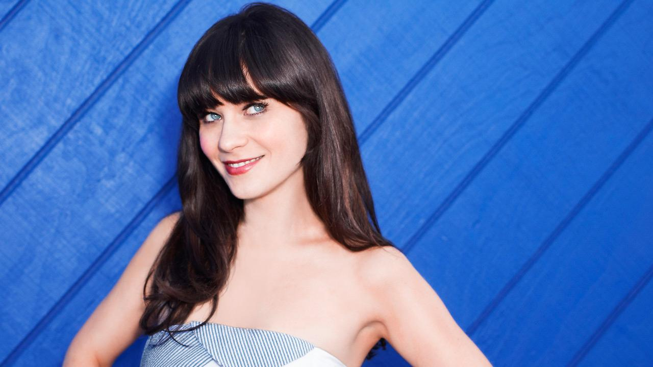 Zooey Deschanel appears in a promotional photo for the second season of The New Girl in 2012.