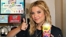Actress Ashley Benson, of ABC Familys hit TV show Pretty Little Liars, appears at a 7-Eleven to celebrate 7-Elevens Awesummer Summer Slurpee Days on May 22, 2013 in Los Angeles, California. - Provided courtesy of AP / Jonathan Leibson / Getty Images for 7-Eleven