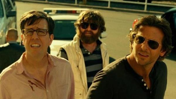 Bradley Cooper, Ed Helms and Zach Galifianakis appear in a scene from the 2013 movie The Hangover: Part III.