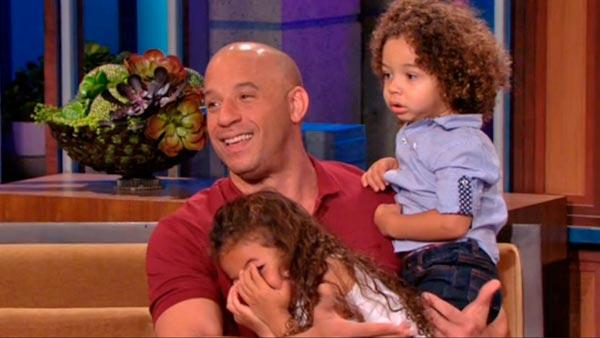 Vin Diesel and his children appear on The Tonight Show on May 22, 2013. - Provided courtesy of NBC