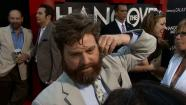 Zach Galifianakis talks to OTRC.com at the premiere of the 2013 film Hangover Part III in Los Angeles on May 22, 2013.