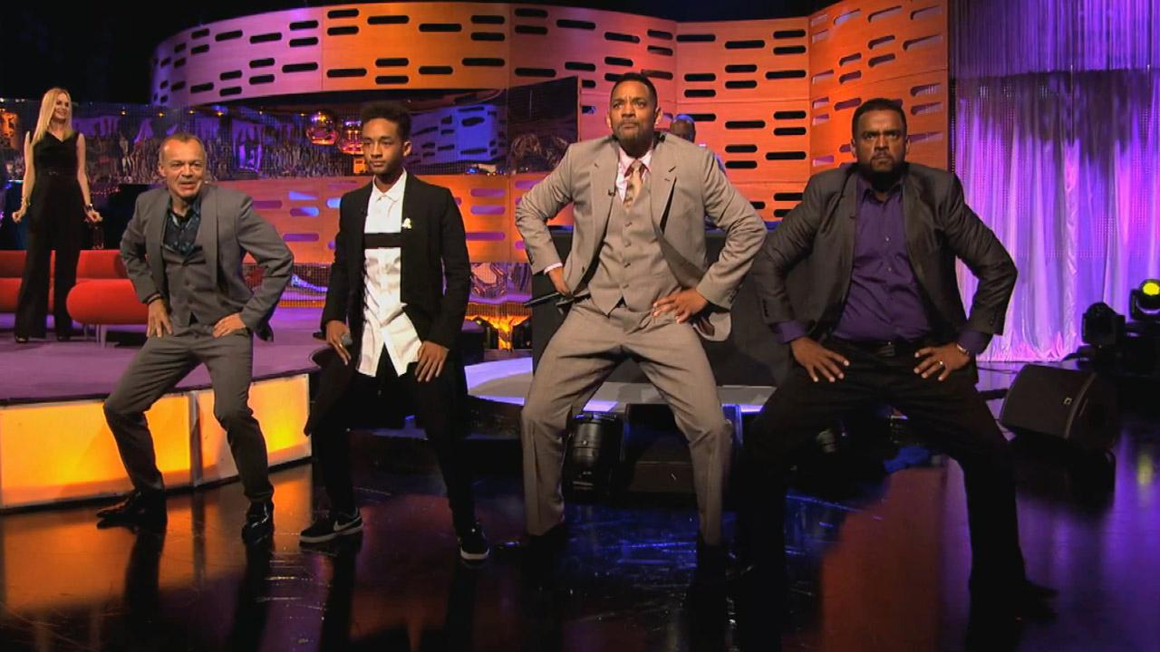 Will Smith, his son Jaden Smith and Alfonso Ribeiro appear on The Graham Norton Show on the BBC on May 24, 2013.