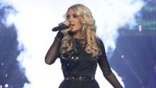 Carrie Underwood appears in a photo from her official website that shows her performing on her 2012-2013 Blown Away Tour. - Provided courtesy of carrieunderwood.com / Matthew Sperling