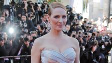 Actress Uma Thurman arrives for the awards ceremony of the 66th international film festival, in Cannes, southern France, Sunday, May 26, 2013. - Provided courtesy of Lionel Cirreneau / Invision / AP