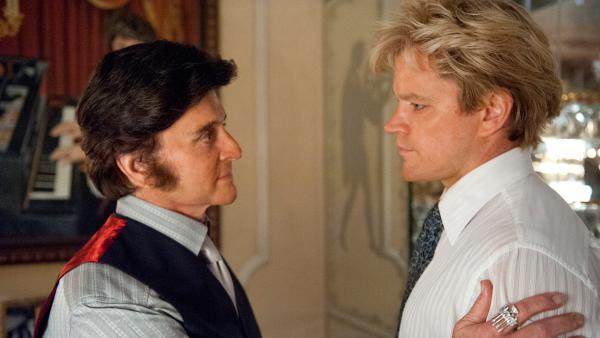 Michael Douglas appears as Liberace and Matt Damon appears as his lover, Scott Thorson, in the HBO film Behind the Candelabra. The movie premiered on May 26, 2013. - Provided courtesy of Claudette Barius / HBO