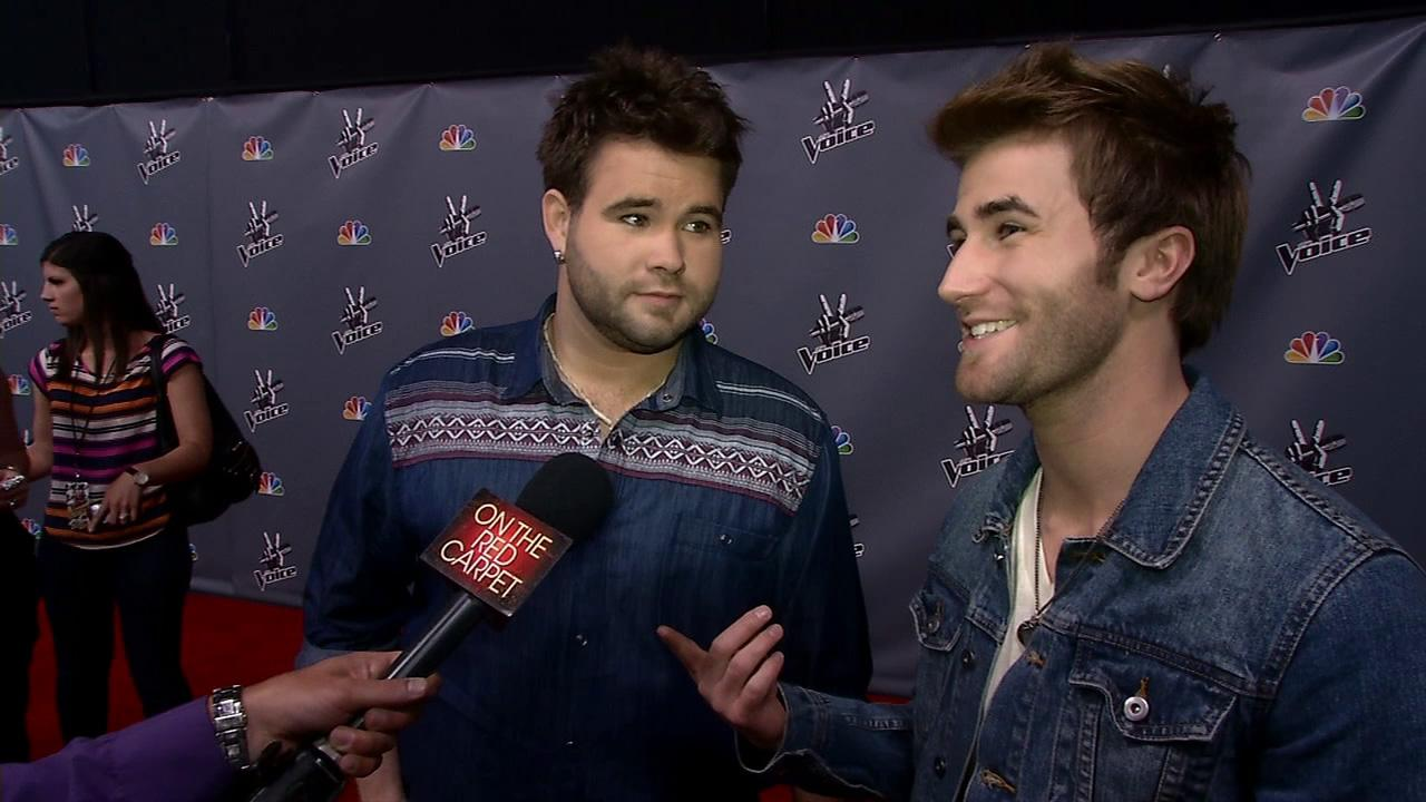 Zach and Colton Swon talks to OTRC.com after a live taping of The Voice season 4 on May 27, 2013.
