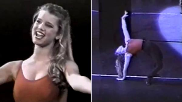 Jessica Simpson appears in a video from her high school days which shows her performing a song from A Chorus Line. She posted it on YouTube on May 30, 2013. - Provided courtesy of youtube.com/watch?vMCHy7vUwhFQ