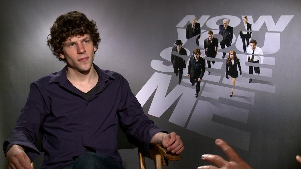 Jesse Eisenberg talks to OTRC.com about the 2013 film Now You See Me, in which he plays a magician.