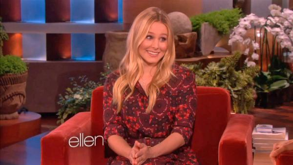 Kristen Bell appears on The Ellen DeGeneres Show in an interview that aired on June 1, 2013. - Provided courtesy of OTRC