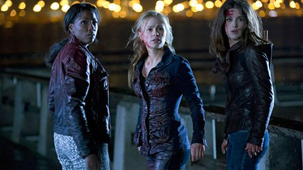 Rutina Wesley, Anna Paquin, Lucy Griffiths appear in a scene from the season 6 premiere of True Blood, which airs on June 16 on HBO. - Provided courtesy of John P. Johnson / HBO