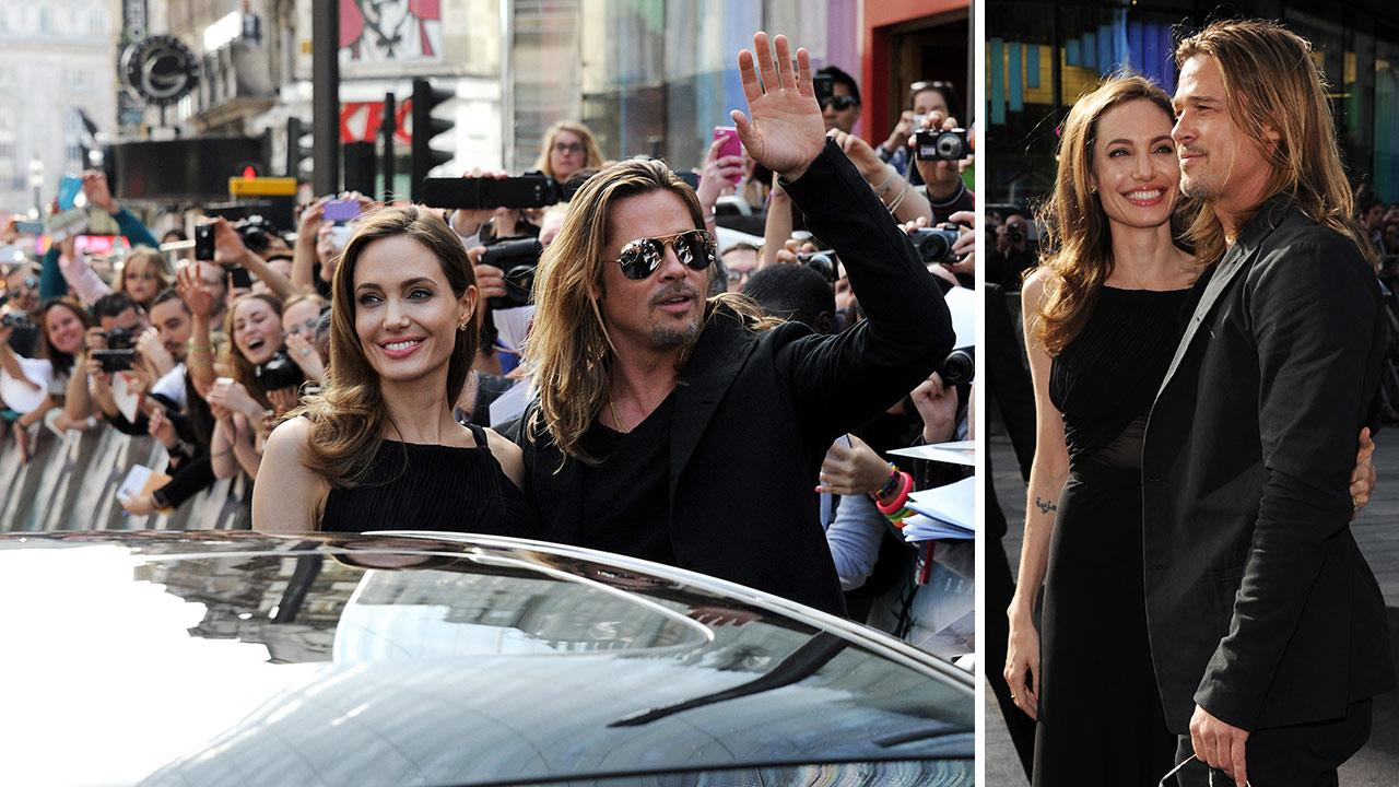 Angelina Jolie (L) and Brad Pitt attend the World Premiere of World War Z at The Empire Cinema Leicester Square on June 2, 2013 in London. It marked Jolies first public appearance since she revealed in May that she had undergone a double mastectomy.