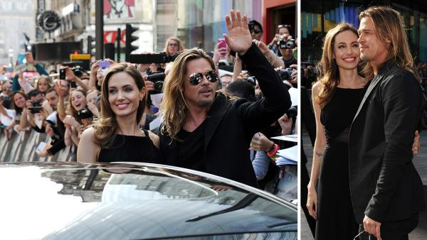 Angelina Jolie (L) and Brad Pitt attend the World Premiere of World War Z at The Empire Cinema Leicester Square on June 2, 2013 in London. It marked Jolies first public appearance since she revealed in May that she had undergone a double mastectomy. - Provided courtesy of Dave M. Benett / WireImage for Paramount