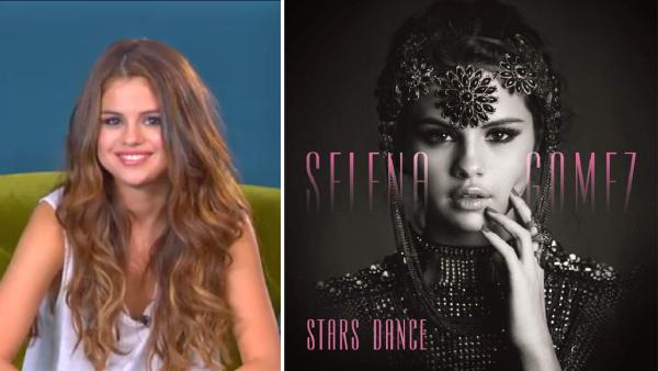 Selena Homez appears during a live fan chat on YouTube on June 3, 2013. / The album cover of her newest album Stars Dance. - Provided courtesy of youtube.com/user/SelGomez / Hollywood Records