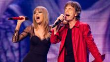 Special guest Taylor Swift and Mick Jagger of the Rolling Stones perform at the United Center on Monday, June 3, 2013 in Chicago. - Provided courtesy of Barry Brecheisen/Invision/AP