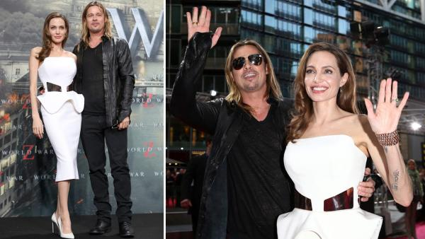 Brad Pitt and Angelina Jolie at the Berlin premiere of World War Z, at the Cinestar Sony Center, Potsdamer Platz in Berlin, Germany on June 4th, 2013. - Provided courtesy of Andreas Rentz / Getty Images for Paramount Pictures Intl / Sean Gallup / Getty Images for Paramount Pictures Intl