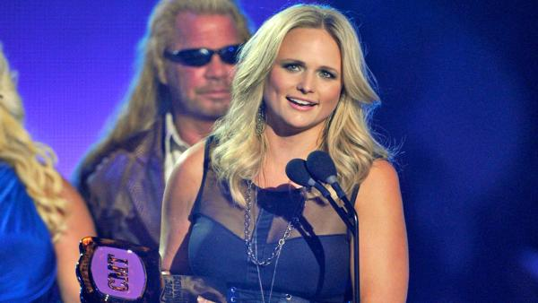 Miranda Lambert wins an award at the 2013 CMT Music Awards in Nashville, Tenn. on Wednesday, June 5, 2013. - Provided courtesy of AP / AP Photo/Charles Sykes