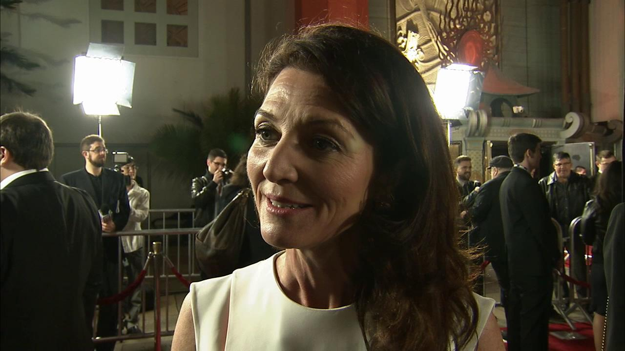 Michelle Fairley, who plays Catelyn Stark on Game of Thrones, talks to OTRC.com at the premiere of the HBO shows season 3 in Los Angeles on March 18, 2013.