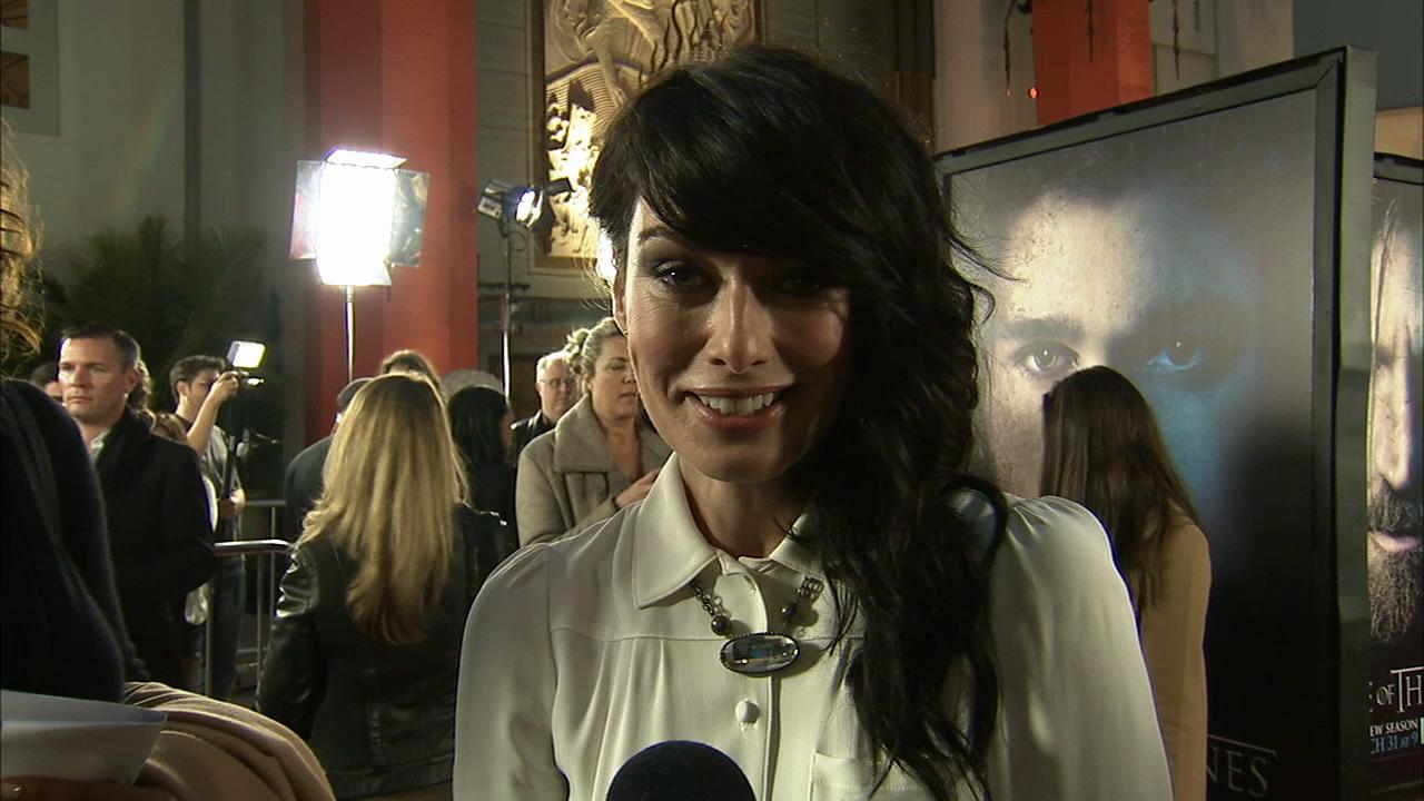 Lena Headey, who plays Cersei Lannister on Game of Thrones, talks to OTRC.com at the premiere of the HBO shows season 3 in Los Angeles on March 18, 2013.