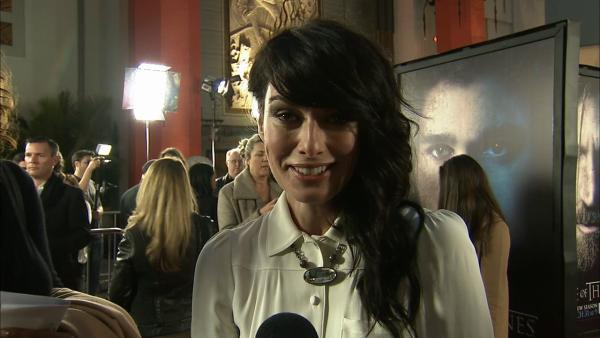 Lena Headey, who plays Cersei Lannister on 'Game of Thrones, talks to OTRC.com at the premiere of the HBO show's season 3 in Los Angeles on March 18, 2013.