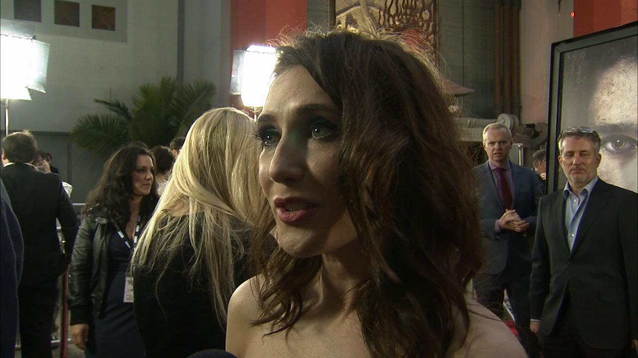 Carice van Houten, who plays Melisandre on Game of Thrones, talks to OTRC.com at the premiere of the HBO shows season 3 in Los Angeles on March 18, 2013.
