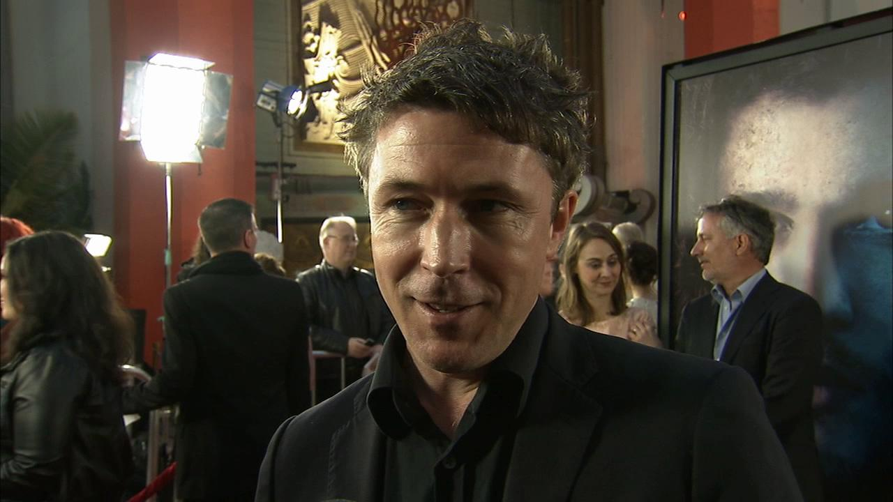 Aidan Gillen, who plays Petyr Littlefinger Baelish on Game of Thrones, talks to OTRC.com at the premiere of the HBO shows season 3 in Los Angeles on March 18, 2013.
