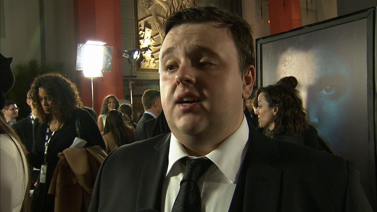 John Bradley, who plays Samwell Tarly on Game of Thrones, talks to OTRC.com at the premiere of the HBO shows season 3 in Los Angeles on March 18, 2013.