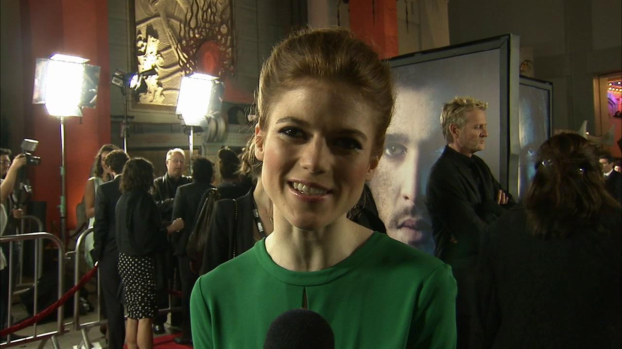 Rose Leslie, who plays Ygritte (You know nothing, Jon Snow) on Game of Thrones, talks to OTRC.com at the premiere of the HBO shows season 3 in Los Angeles on March 18, 2013.