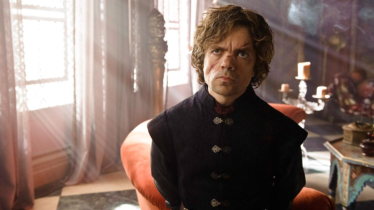 Peter Dinklage appears as Tyrion Lannister in a scene from season 3 of the HBO show Game of Thrones.Helen Sloane / HBO