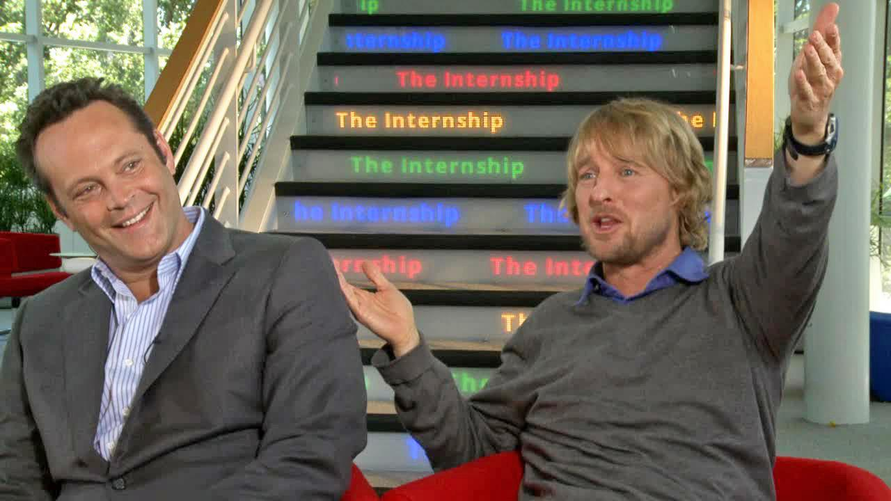Owen Wilson and Vince Vaughn appear in a junket interview for The Internship filmed on May 31, 2013.
