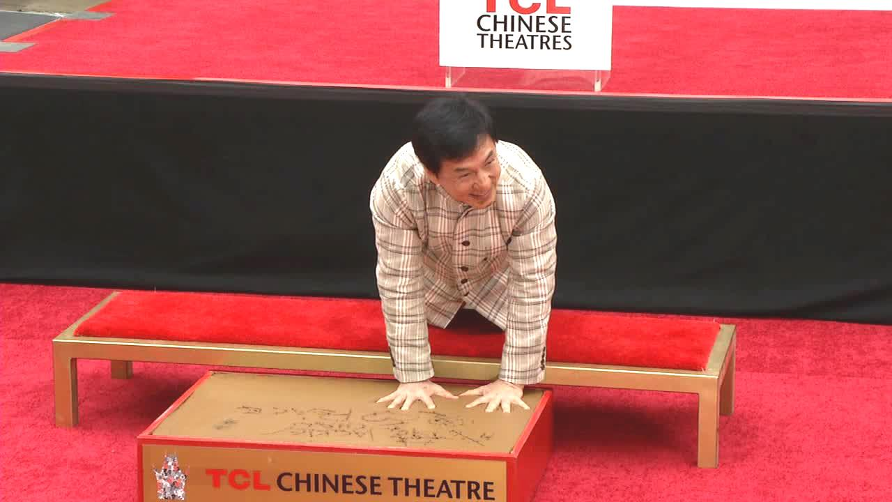 Jackie Chan appears at his handprint ceremony at the TCL Chinese Theatre on June 6, 2013.