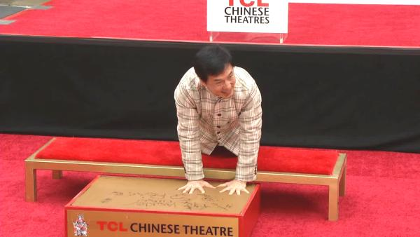 Jackie Chan appears at his handprint ceremony at the TCL Chinese Theatre on June 6, 2013. - Provided courtesy of OTRC