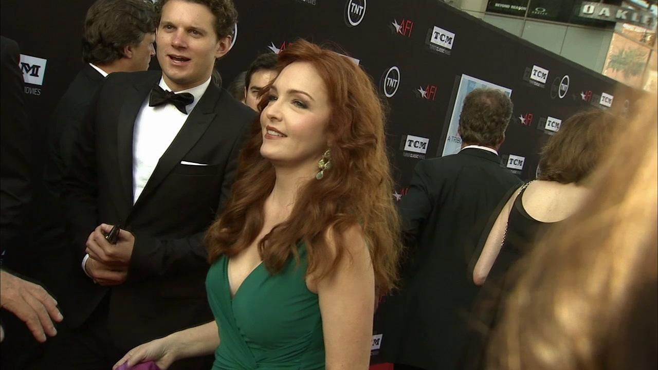Amy Yasbeck talks to OTRC.com on the red carpet at the American Film Institutes 41st Lifetime Achievement Gala, honoring Mel Brooks, at the Dolby Theatre in Los Angeles on Thursday, June 6, 2013.
