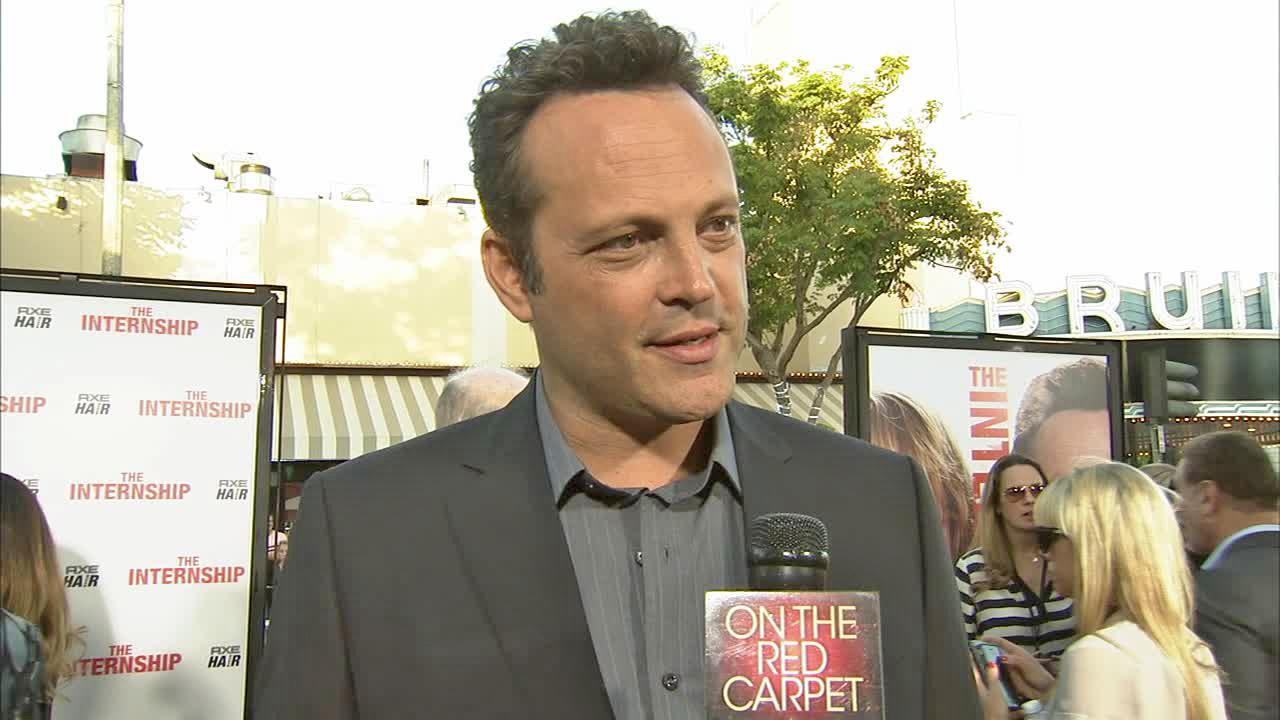 Vince Vaughn appears in an interview with OTRC.com at the premiere of The Internship on May 29, 2013.