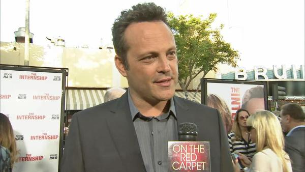 Vince Vaughn appears in an interview with OTRC.com at the premiere of 'The Internship' on May 29, 2013.