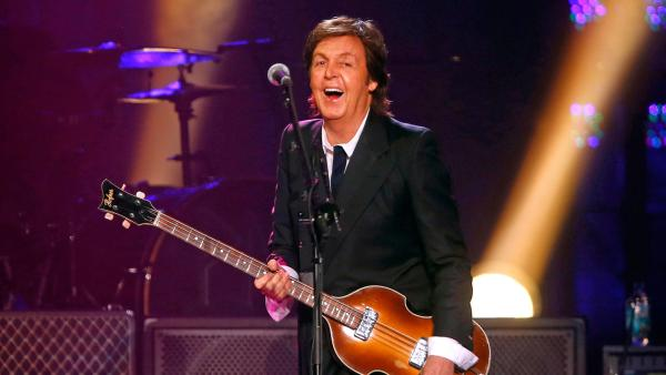 Paul McCartney performs during a concert at the Barclays Center, Saturday, June 8, 2013, in New York. - Provided courtesy of Jason DeCrow/Invision/AP