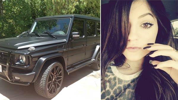 Kendall Jenner and her car appear in photos from her official Instagram account. - Provided courtesy of OTRC / instagram.com/kyliejenner