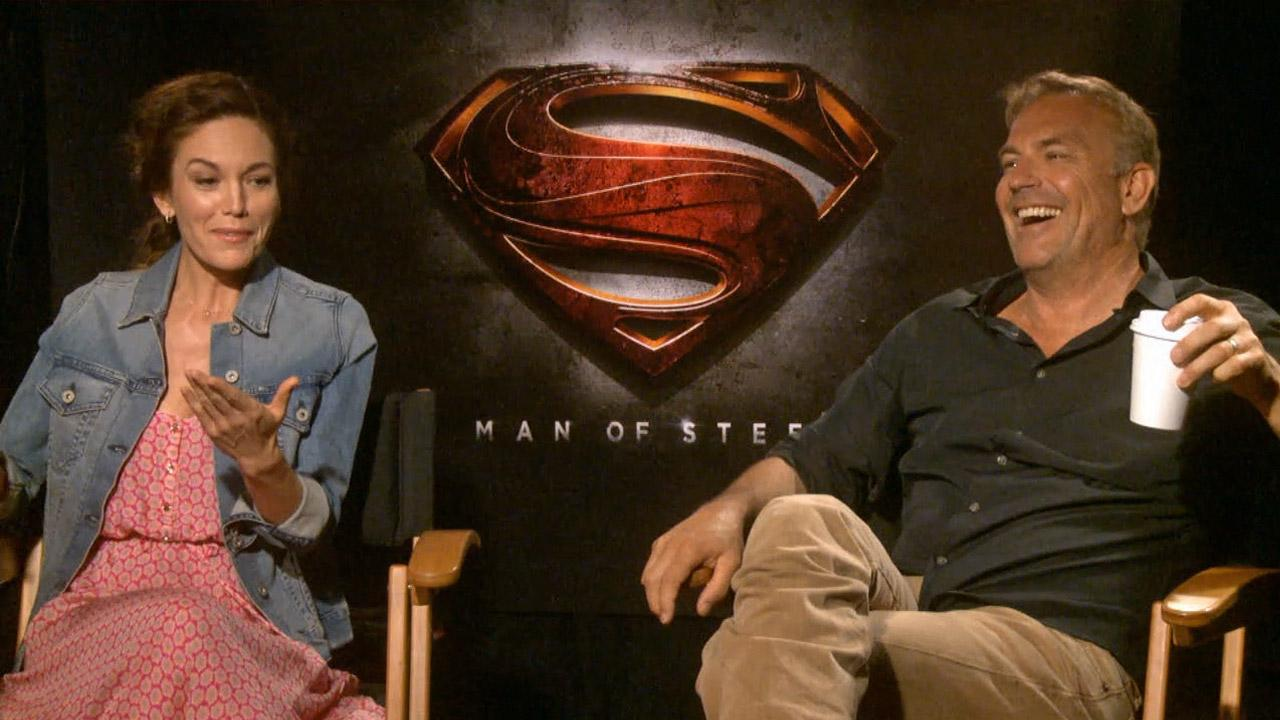 Kevin Costner and Diane Lane talked to OTRC.com about their upcoming Superman film, Man of Steel, in June 2013.