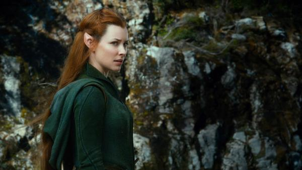 Tauriel (Evangeline Lilly) appears in a scene from the 2013 movie The Hobbit: The Desolation of Smaug. - Provided courtesy of Warner Bros. Pictures