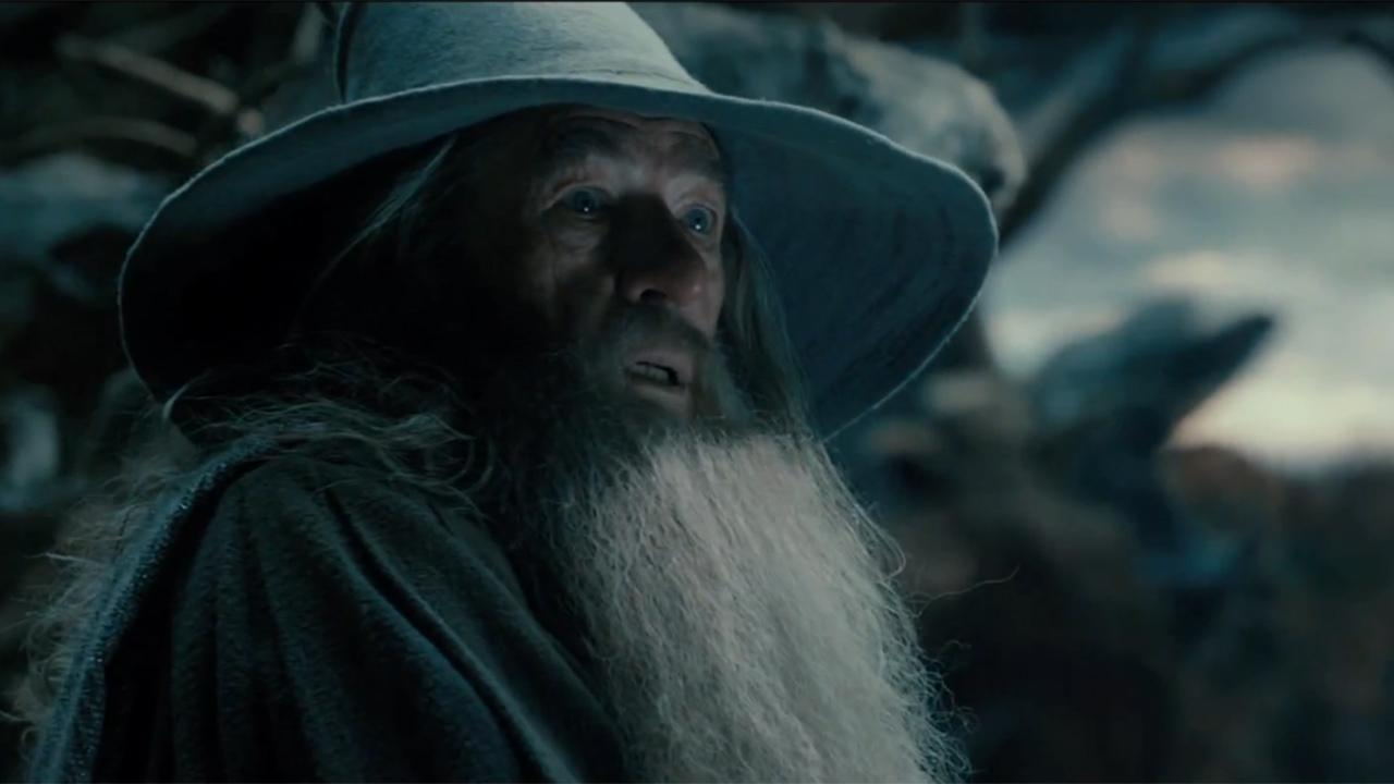 Ian McKellen appears as Gandalf the wizard in a scene from the 2013 movie The Hobbit: The Desolation of Smaug. <span class=meta>(Warner Bros. Pictures)</span>