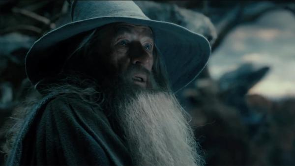 Ian McKellen appears as Gandalf the wizard in a scene from the 2013 movie 'The Hobb