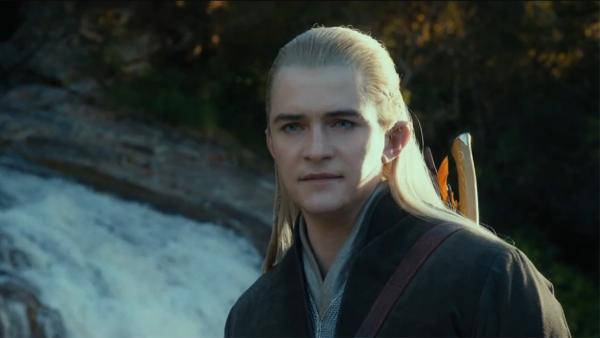 Orlando Bloom appears as Legolas in a scene from the 2013 movie 'The Hobbit: The Desolation of Smaug.'