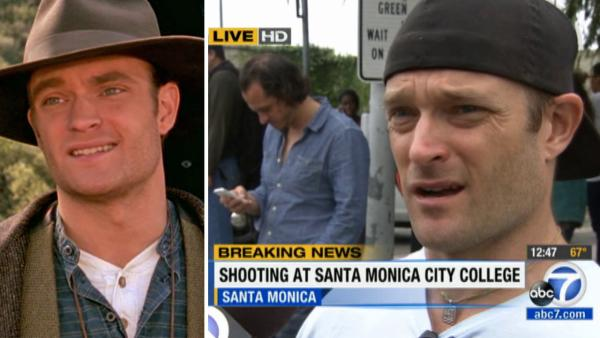 'Dr. Quinn, Medicine Woman's Chad Allen describes the Santa Monica College shooting aftermath on June 7, 2013. / Chad Allen appears in a scene from 'Dr. Quinn, Medicine Woman.'