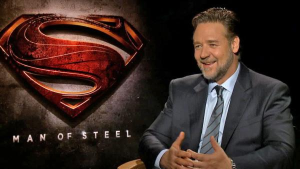 Russell Crowe talks to OTRC.com about the movie Man of Steel, in a June 2013 interview. - Provided courtesy of OTRC