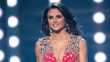 Miss Texas USA 2013 competes in her evening gown during the 2013 MISS USA Competition at PH Live in Las Vegas, Nevada on Sunday June 16, 2013. - Provided courtesy of Miss Universe Organization L.P.