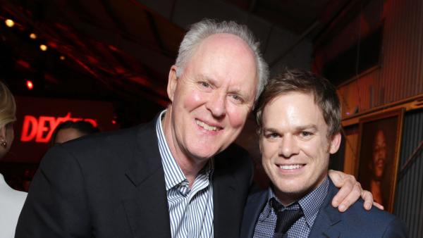 John Lithgow (Trinity Killer, season 4) and Michael C. Hall (Dexter, seasons 1-8) appear at Showtimes premiere of Dexter season 8 in Los Angeles on June, 15, 2013. - Provided courtesy of Eric Charbonneau / Invision for Showtime